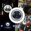 """5.75 """"אופנוע LED H4 פנס היי & Lo פנס הנורה DRL עם מלאך טבעת עבור הארלי דוידסון Sportsters XL dyna  הודי סקאוט באתר"""