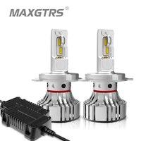 MAXGTRS Car LED Headlight Bulbs H4 H7 H11 H8 9005 HB3 9006 HB4 72w 12000Lm Auto