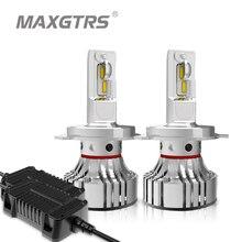 2x รถ LED ไฟหน้าหลอดไฟ H4 Hi/Low H11 H8 9005/HB3 9006/HB4 72W 12000Lm CSP LED Auto ไฟหน้า6000K สีขาว