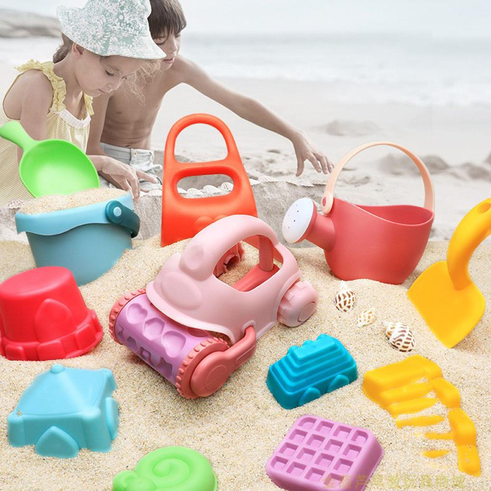PP Material Mesh Bag Soft Plastic Beach Toys Set For Kids ATV Beach Shovel Outdoor Combination Play Water Sand Toy