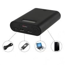 E3s banco portable y cargador de batería soshine con doble usb y pantalla lcd para baterías de iones de litio 18650 3.7 v batería