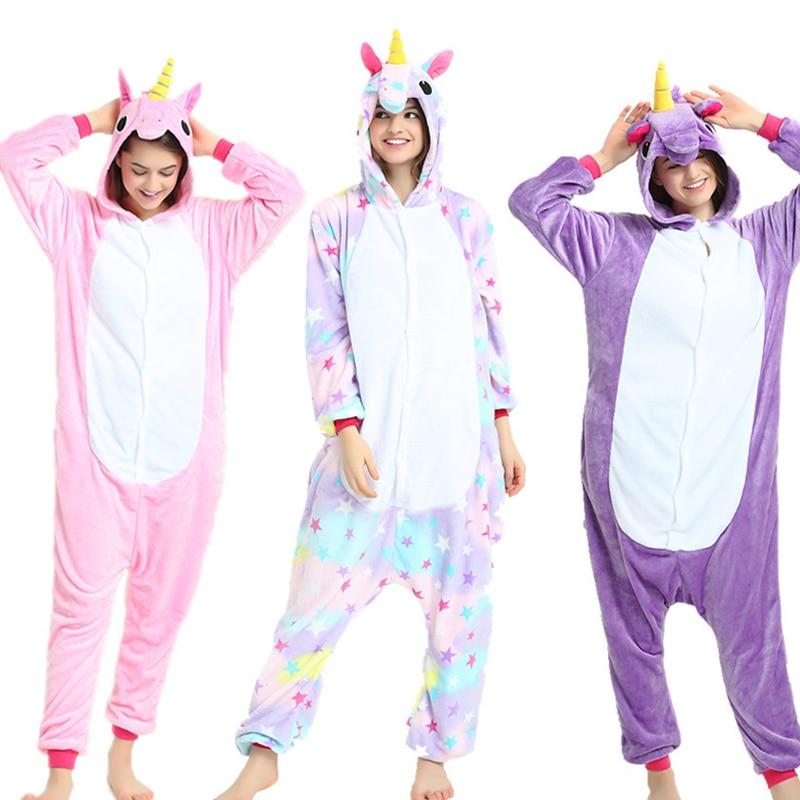 Flanell Erwachsene Tier pijama Einhorn pyjamas für frauen Unisex Homewear Totoro Pikachu Weiche komfortable Nachtwäsche Mit Kapuze Onsie