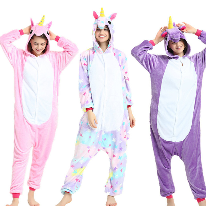 Flannel Adult Animal pijama Unicorn pajamas for women Unisex Homewear Totoro  Pikachu Soft comfortable Sleepwear Hooded Onsie-in Pajama Sets from  Underwear ... ec986220b