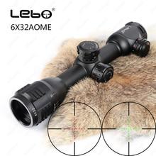 LEBO 6×32 AOME Mil-Dot Verre Gravé Réticule lumineux Compact Tactique Optique Vue Serrure Fusil Portée Pour chasse de Tir