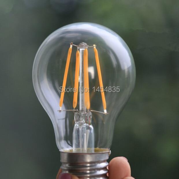 Shenzhen Led Lightness Technology Co., Ltd. High brightness E27 LED Filament Light E27 COB 220V 1110V 2W 4W 6W 360 Degree Retro Candle Lighting free shipping
