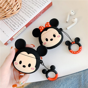 Cute Minnie Wireless Bluetooth Earphone Case For Apple AirPods Silicone Charging Headphones Cases For Airpods Protective Cover