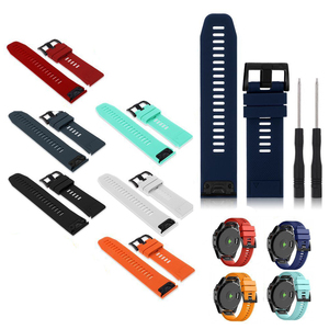 Image 2 - Watchband Strap for Garmin Fenix 5 5X Plus 3 3HR Fenix 6X 6 6S Watch Strap Quick Release Silicone Band For Forerunner 935 Band