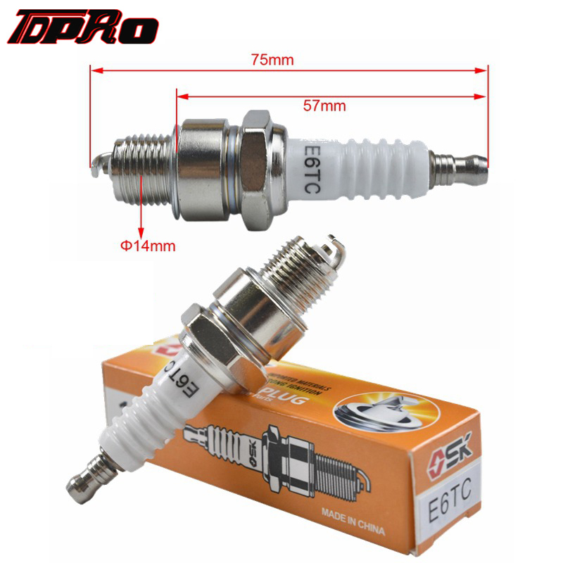 TDPRO Ignition Spark Plug 5pcs/10pcs Sparking Plugs For 49cc 60cc 66cc 80cc 2 Stroke Engines Motorized Bicycle Dirt Moped Bike