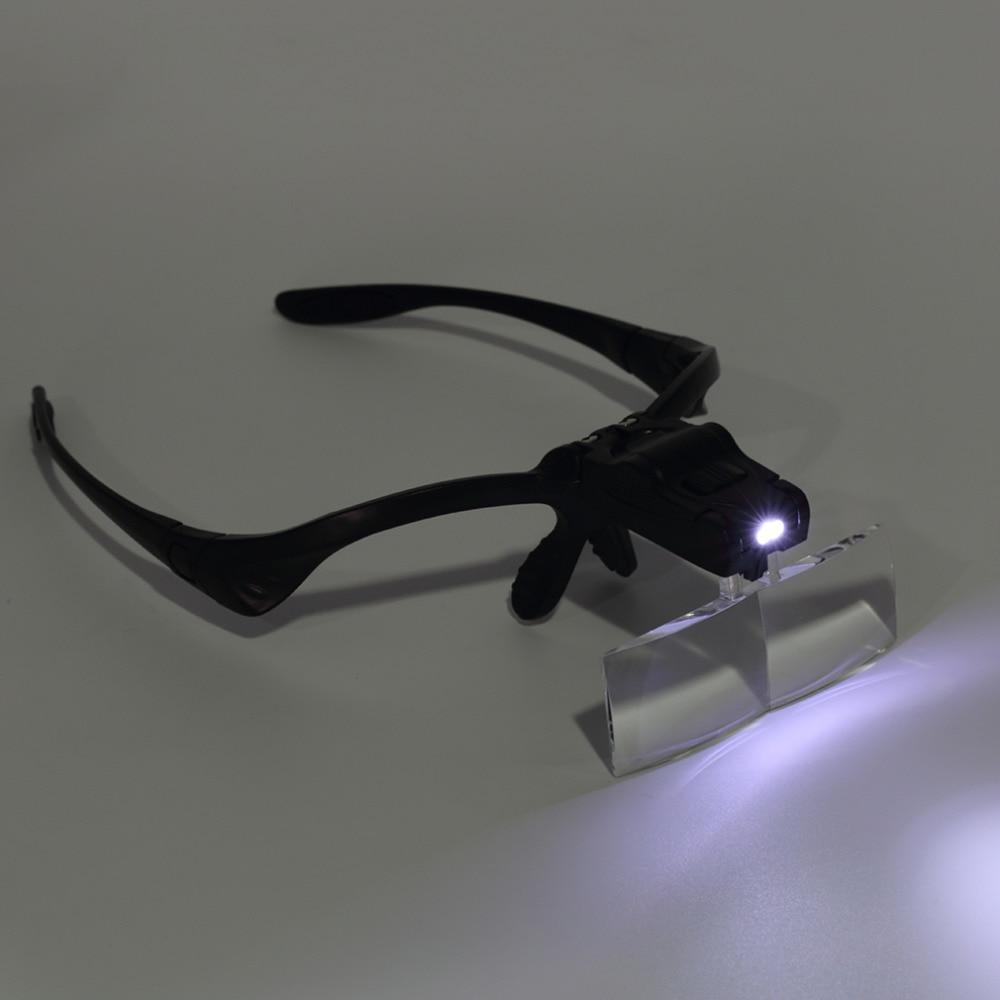 Lupa com Led Transporte da Gota Lente Ajustável Lupa Cabeça Joalheiro Relógio Reparação Novo 5x