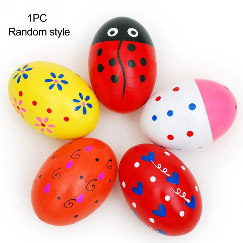 Sand Eggs Percussion Instruments Wooden Percussion Musical For Children Kids Gift Random Color