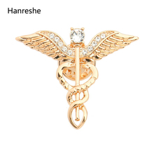 Jewelry Crystal-Brooches Nurse/medical Gift Gold Fashion Women for Rose-Gold-Color Student