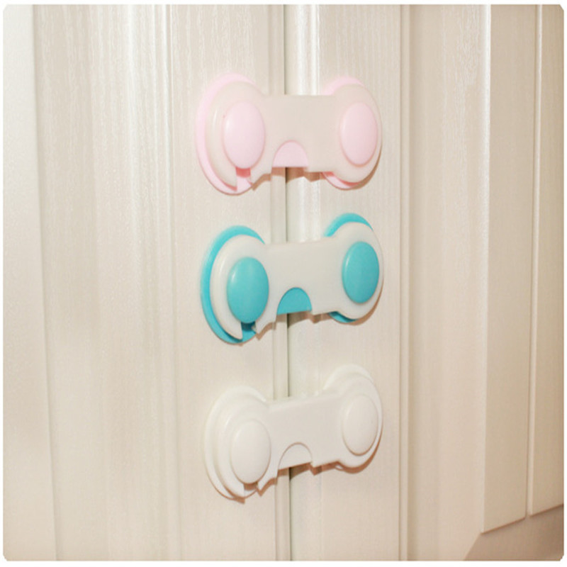 6 Pieces Of 6 Color Child Safety Lock Unit Baby Protection Lock Refrigerator Safety Closet Lock