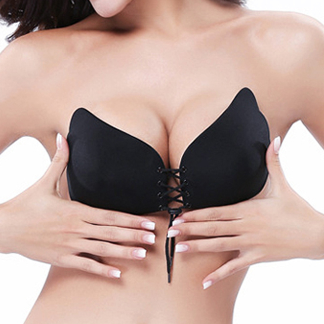 Sexy Bra Seamless Strapless Bra, Push Up Bra Wire Free Invisible Bra Perfect Silicone Bra