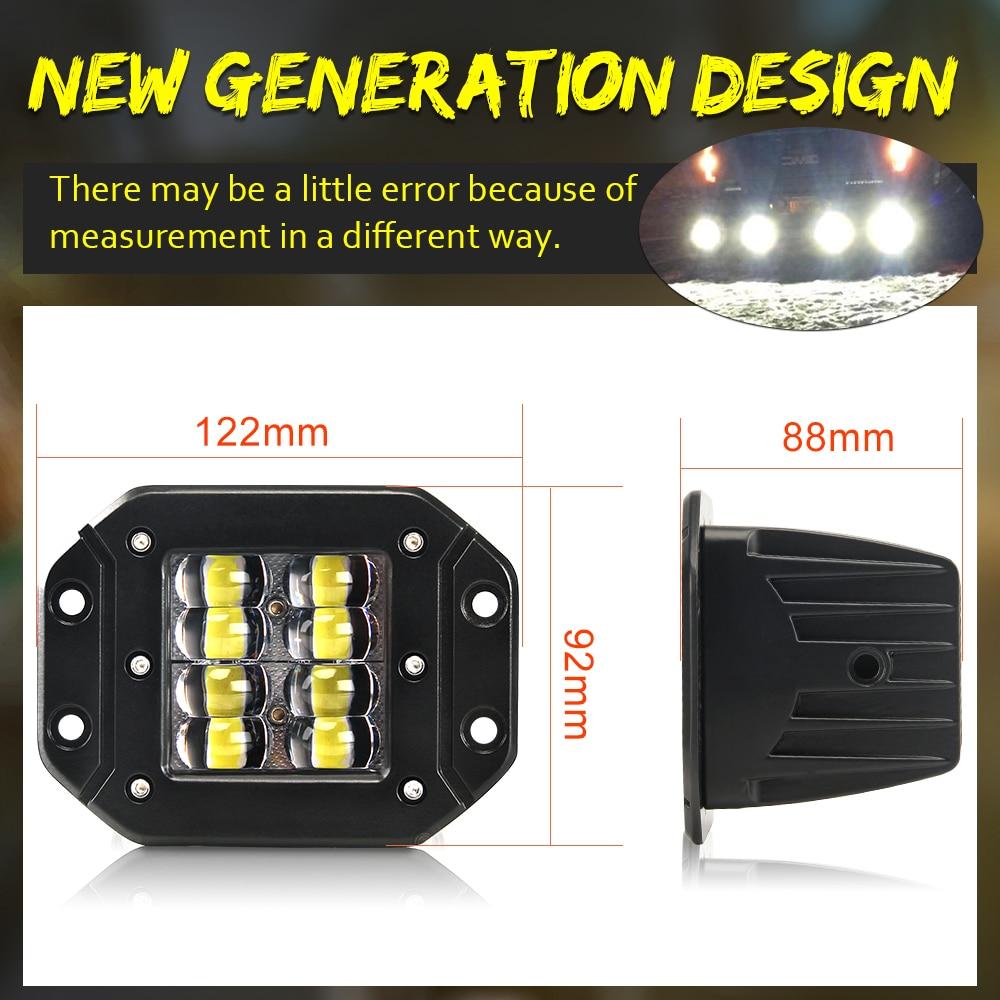"Image 3 - CO LIGHT 80W Strobe LED Work Light 5"" Car styling Offroad Driving Light Bar Flood Beam Auto for SUV 4WD ATV Trucks Boat 12V 24V-in Light Bar/Work Light from Automobiles & Motorcycles"