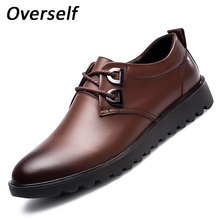 Mens Dress Business Leather Shoes Luxury Brand Men's Loafers Cow Genuine Leather Men Formal Loafers Moccasins Retro Brushed