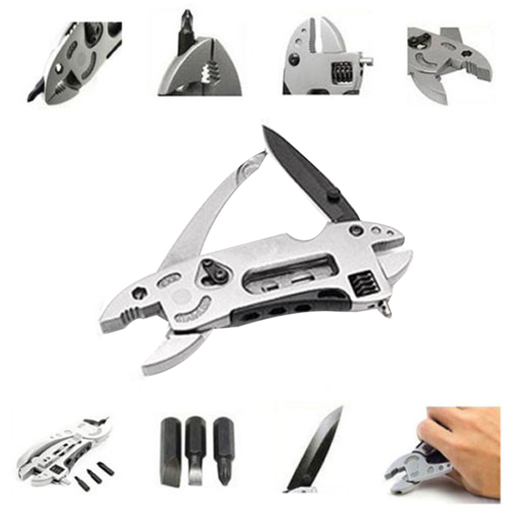Outdoor Multi-tool Pliers Screwdriver Survival Tool Adjustable Wrench EDC Set