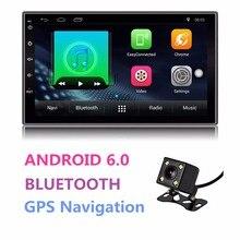 Универсальный Android двойной 2 Din Авто Радио 7 »Сенсорный экран 4 ядра 1 ГБ Оперативная память 16 ГБ Встроенная память радио Bluetooth автомобиля стерео gps навигации