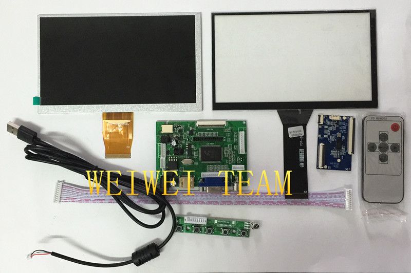 7 inch 1024 600 LCD Monitor with Multi Point 16 9 Capactive Touch Screen with Hdmi
