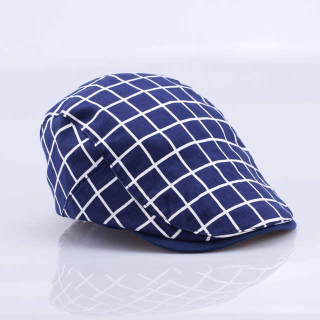47de959d858 placeholder New Fashion Gatsby Newsboy Cap Men Cotton Hat Golf Driving Flat  Cabbie Unisex Plaid Check Berets