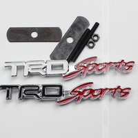 Metal Car Badge Emblem TRD SPORT Car Styling For Toyota Lexus REIZ CROWN RAV4 PRADO Highlander