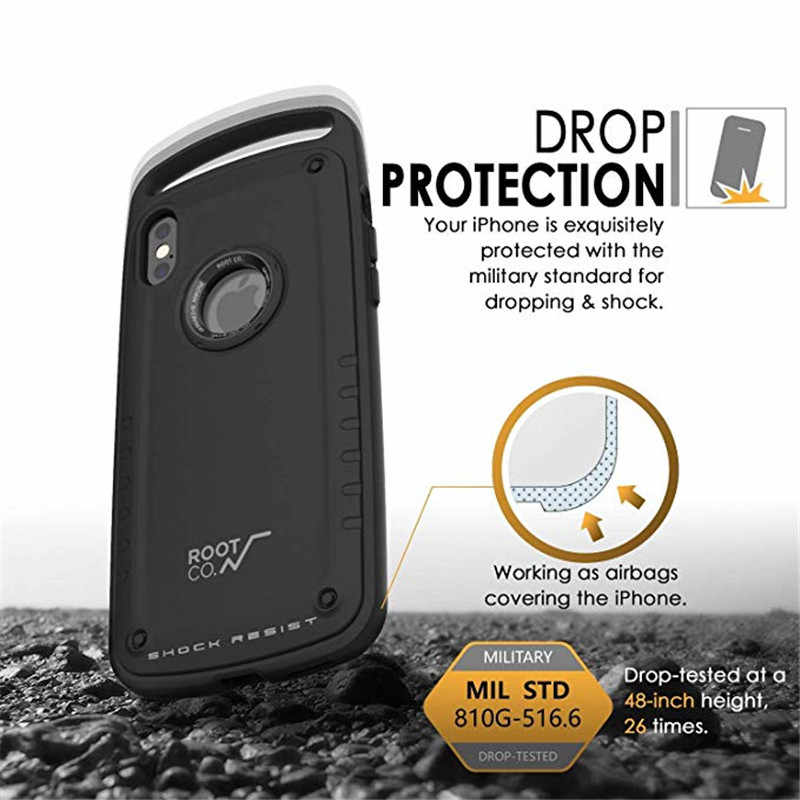 size 40 9ca3b 6c8e7 For Root CO for iPhone X iPhone XS Case Gravity Shock Resist Feather-Light  Rugged Military Drop-Tested for iPhone 7 8 plus Case