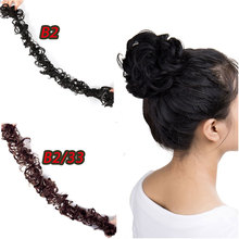 HiDoLA Hairpiece Accessories Wave Curly Fiber Wearing Chignon Hair Bun Synthetic Ponytail Extensions headwear