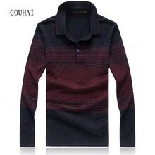 Новинка 2017 года осень-зима Марка кашемир Для мужчин свитер Бизнес Одежда высшего качества шелка в полоску свитер Для мужчин S пуловер Плюс Размеры M-7XL 8XL