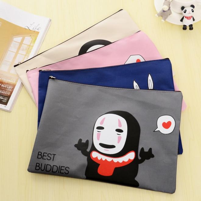 1 Pcs/set Novelty Cute No Face Man Oxford File Bag Document Bag A4 File Folder Stationery Wide Varieties Filing Products