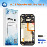 LCD con Cornice per HTC One Mini 2 (M8 Mini) Display LCD Touch Screen Digitizer Assembly Completo Pantalla 4.5