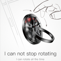 Baseus Gyro Finger Ring Holder Hand Spinner Rotary Rotation Metal Mobile Phone Holder Stand For iPhone Samsung Phone Ring Holder 1