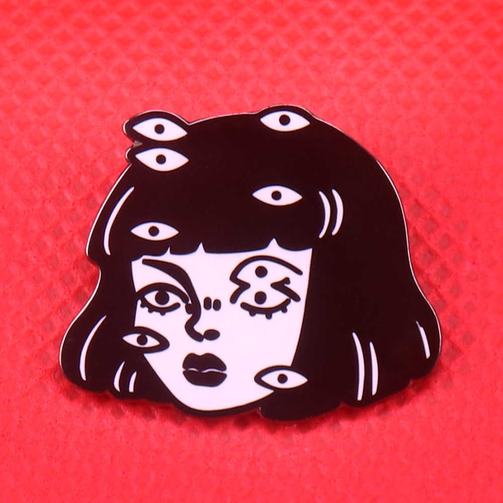 Ogen Emaille Pin Junji Ito Broche Japan Horror Manga Badge
