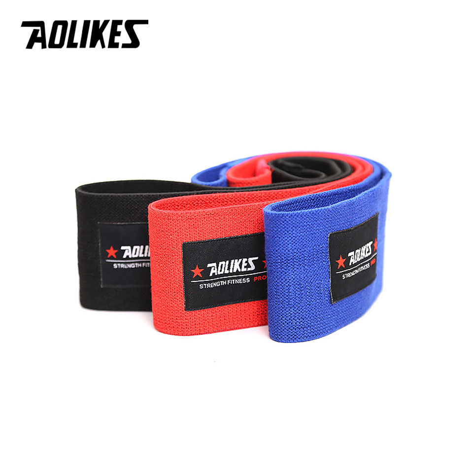 AOLIKES Hip Circle Loop Resistance Band in Non Slip and Non Roll Design for Legs and Thigh 3