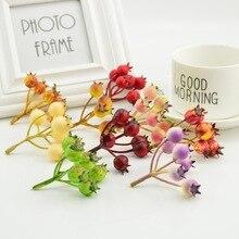 5 шт. дешевые искусственные мини-пены фрукты тычинки цветы для Свадебные украшения Поддельные Вишня ягоды моделирование Пластик модель авангард