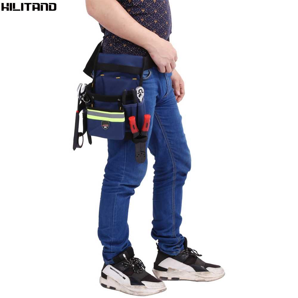 Electrician Waist Bag Tools Bag Holder Convenient Work Organizer Pouch with Belt