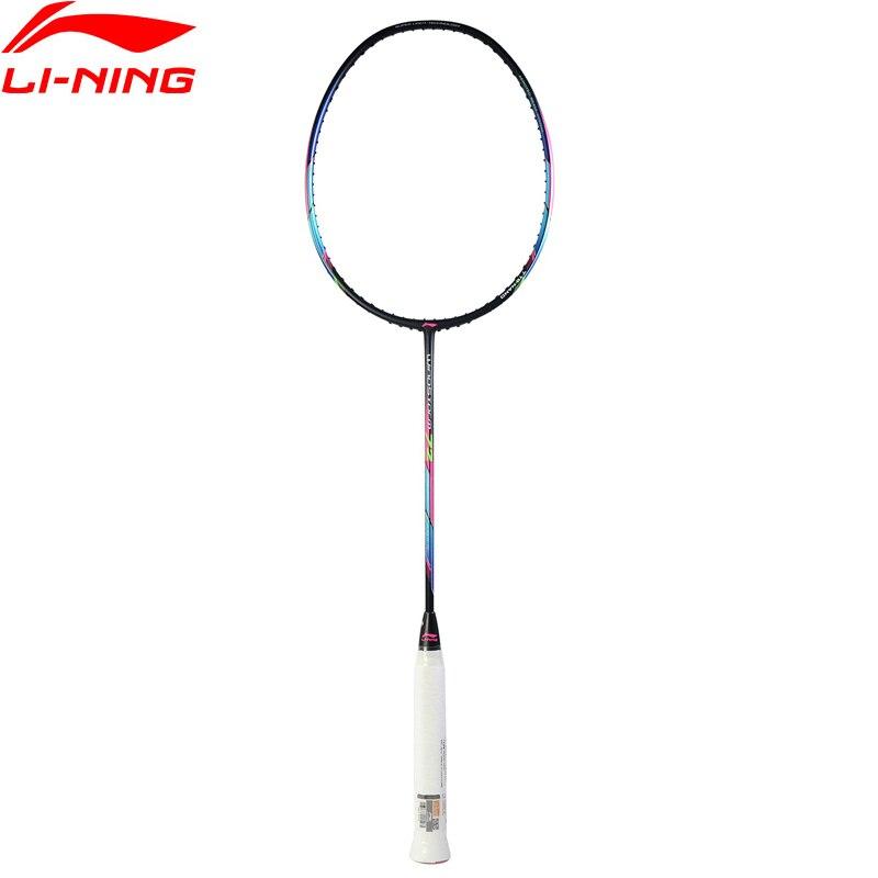 Li-Ning WINDSTORM 72 ракетка для бадминтона Одиночная ракетка легкая Professional углеродное волокно подкладка ракетка AYPM084/AYPM192/AYPM204 ZYF235