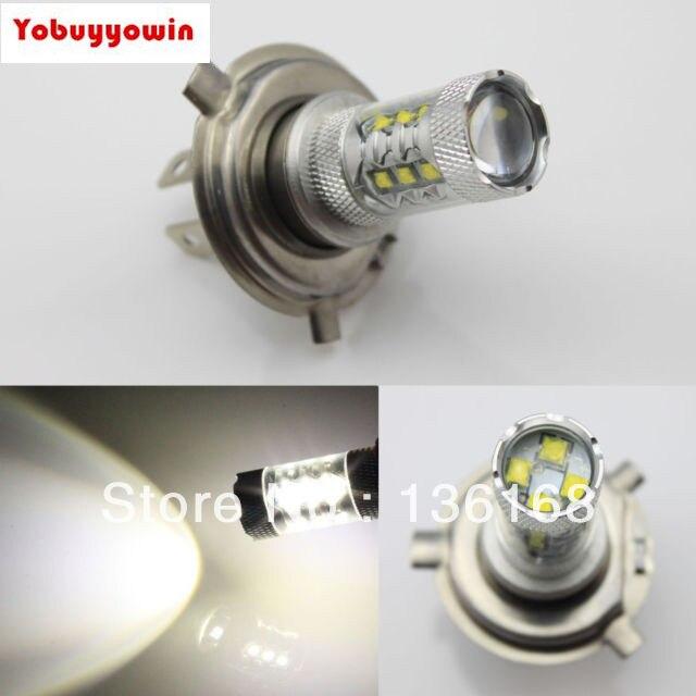Անվճար առաքում 2 հատ H4 HB2 80w CREE չիպսեր LED - Ավտոմեքենայի լույսեր - Լուսանկար 1