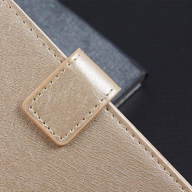 Pour PRESTIGIO WIZE NK3 PSP3527DUO étui pour téléphone daffaires portefeuille en cuir support housse de protection avec fente pour carte
