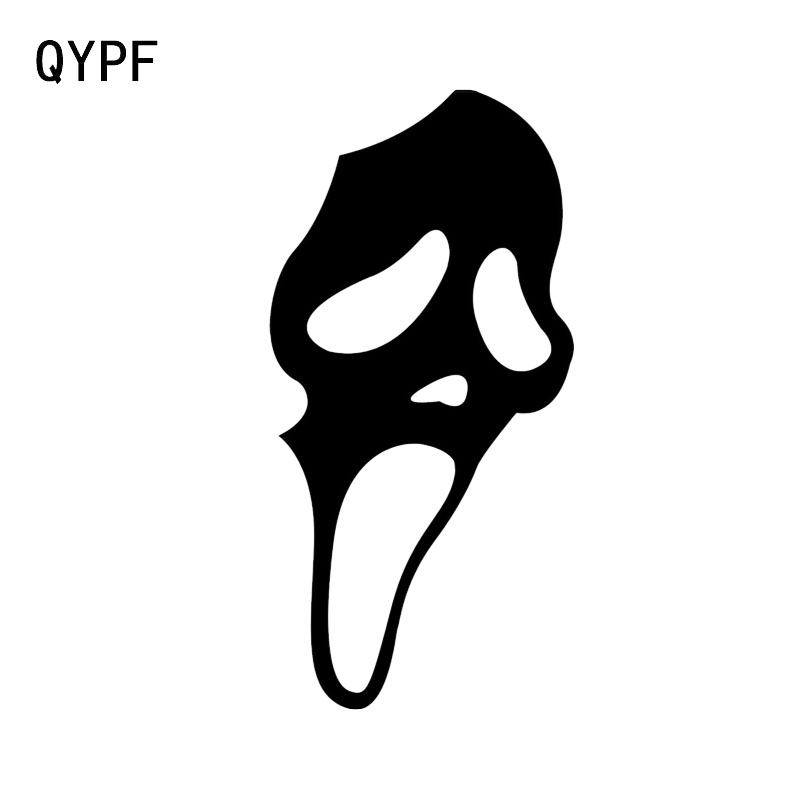 QYPF 7.4*15.1 Interesting Halloween Scary Ghost Face Decor