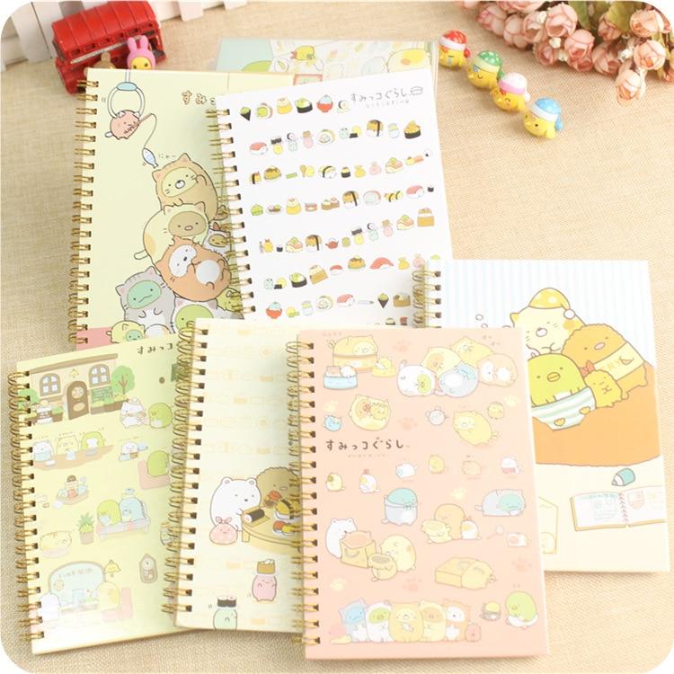 1pc Cute Sumikko Gurashi Daily Memos Notebook School Office Supply Student Stationery Birthday Gift