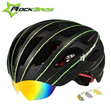 RockBros Ultralight Cycling Helmet Men Women Breathable MTB Road Bicycle Helmet With Goggles 3 Lens Mountain Bike Helmet 57-62cm