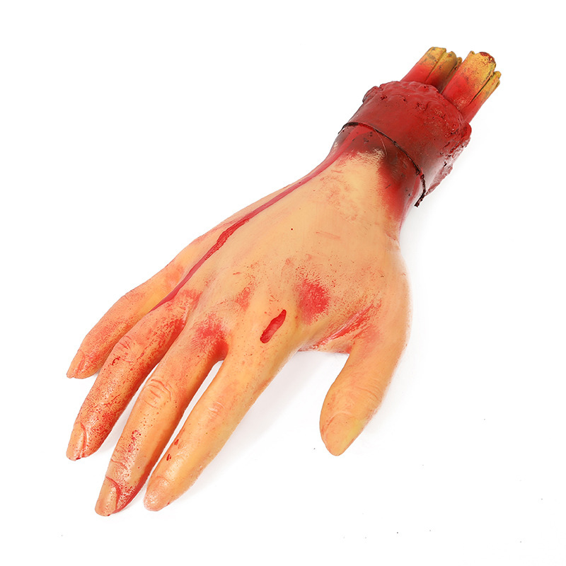 HTB1RphyXkxz61VjSZFtq6yDSVXa4 - Horror Halloween Props Bloody Hand Haunted Party Decoration Fake Hand Finger Leg Foot Heart Halloween House Decoration Supplies