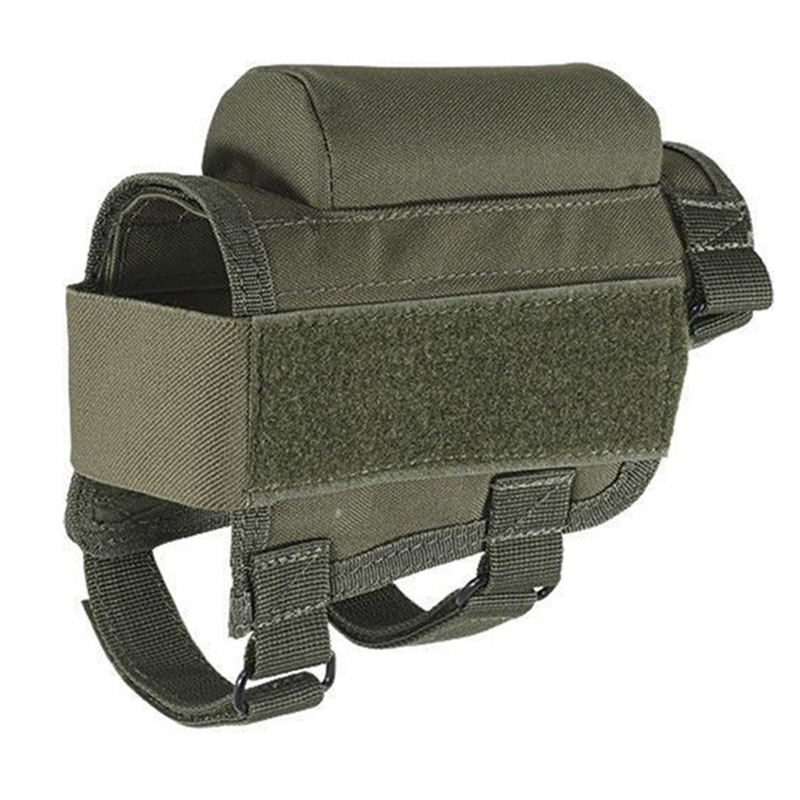 Bullet Bag Multifunctional Portable Adjustable Tactical Butt Stock Rifle Cheek Rest Pouch Bullet Holder Bag Rest Tactical Bags