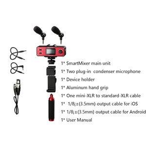 Image 2 - Микрофон Saramonic SmartMixer для смартфона, видеокамеры, ручной микрофон для записи, стерео микрофон для iPhone, Samsung, Android