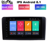 9 IPS Quad Core 2 din Android 8.1 Car DVD player GPS Stereo Radio for Mercedes Benz R Class W251 R280 R300 R320 R350 with wifi