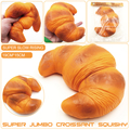Jumbo 19cm Squishy Croissant Super Slow Rising Bread Toy Squishies Free Shipping PS-022 1pcs