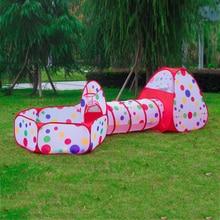 Sklopivi dječja igraonica Kuća igračke Skladištenje šatora Pool-Tube-Teepee 3pcs Pop-up Djeca Igrati Tunel Šator Kids Ocean Ball Toy