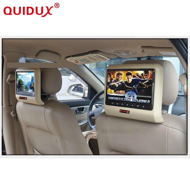 QUIDUX 10.1 Inch HD Auto Car Headrest DVD Player Head Rest TFT LCD Screen RCA Monitor Audio Video Encosto de Cabeca com DVD