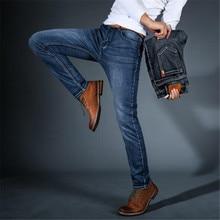 2018 Autumn Summer Classic Trousers Denim Pants Male 2019 New Men's Fashion Jeans Business Casual Stretch Slim Jeans Denim Cotto