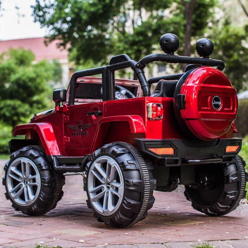 Cuatro ruedas motrices SUV coche eléctrico de los niños puede sentarse de gran tamaño cuatro ruedas de cuatro ruedas motrices controlado por vehículo todoterreno