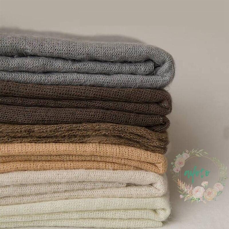 Newborn Photography Crochet Fabric Backdrop Simple Knit BackdropNewborn Backdrop Posing 100*160 cm Soft Fabrics